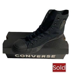 All Black High Top Converse Sneakers